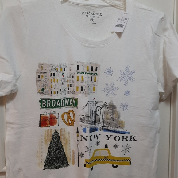 NWT J.crew factory new York in Christmas t-shirt